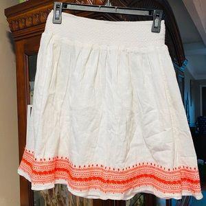 Old Navy White & Orange 🍊 Festive Skirt EUC NWOT